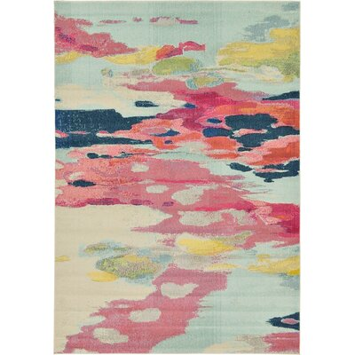 Brister Pink Area Rug Rug Size: 7 x 10