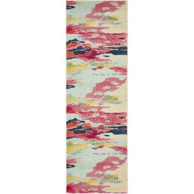 Brister Pink Area Rug Rug Size: Runner 22 x 67