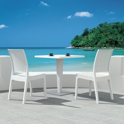 Jayne Dining Table Finish: White