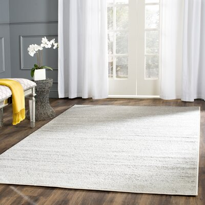 Busick Ivory/Silver Area Rug Rug Size: Rectangle 6 x 9