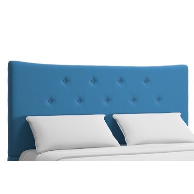 Dedrick Upholstered Panel Headboard Upholstery: Blue, Size: Queen