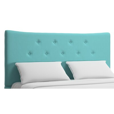 Dedrick Upholstered Panel Headboard Upholstery: Cyan, Size: King