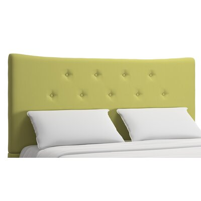 Dedrick Full Upholstered Panel Headboard Upholstery: Chartreuse, Size: Queen