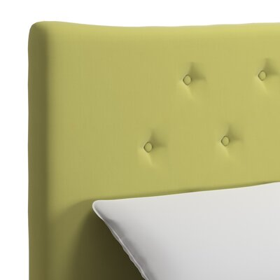 Dedrick Linen Bed Color: Chartreuse, Size: King