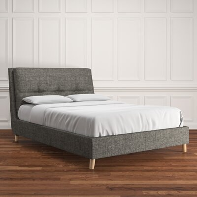 Deemer Linen Upholstered Platform Bed Upholstery: Gray, Size: Queen