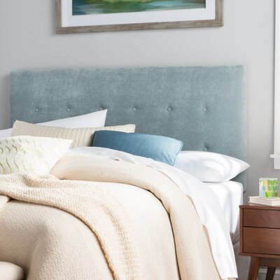 Merrow Upholstered Panel Headboard Size: Full, Upholstery: Light Blue