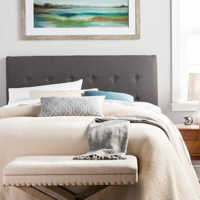 Merrow Upholstered Panel Headboard Size: Full, Upholstery: Charcoal Gray
