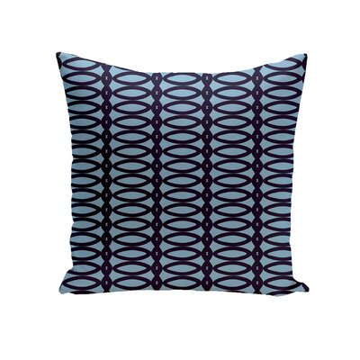 Giancarlo Geometric Decorative Outdoor Pillow Color: Spring Navy Carolina, Size: 16 H x 16 W x 1 D