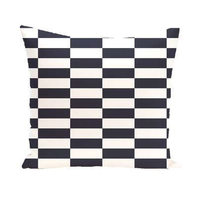 Bo�tes Stair Stepping Stripes Print Outdoor Pillow Color: Bewitching, Size: 18 H x 18 W x 1 D