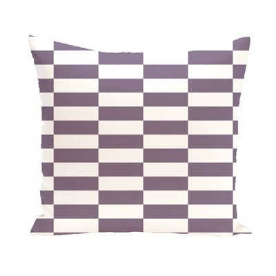 Bo�tes Stair Stepping Stripes Print Outdoor Pillow Color: Larkspur, Size: 16 H x 16 W x 1 D