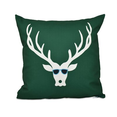 Leonis Holiday Print Throw Pillow Size: 16 H x 16 W, Color: Green