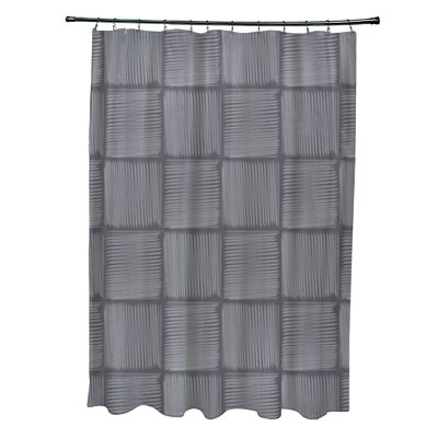 Urijah Geometric Print Shower Curtain Color: Gray