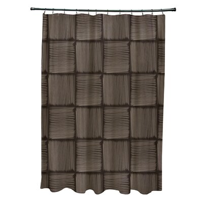 Urijah Geometric Print Shower Curtain Color: Brown