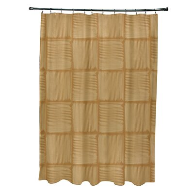 Urijah Geometric Print Shower Curtain Color: Yellow