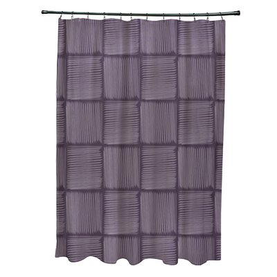 Urijah Geometric Print Shower Curtain Color: Purple