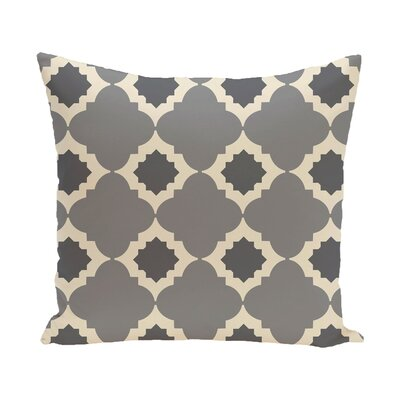 Pollard Geometric Print Throw Pillow Size: 18 H x 18 W, Color: Gray