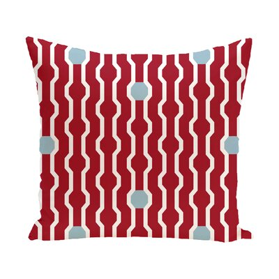 Uresti Decorative Holiday Geometric Print Square Throw Pillow Size: 18 H x 18 W, Color: Red