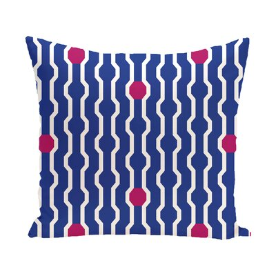 Uresti Decorative Holiday Geometric Print Square Throw Pillow Color: Royal Blue, Size: 20 H x 20 W