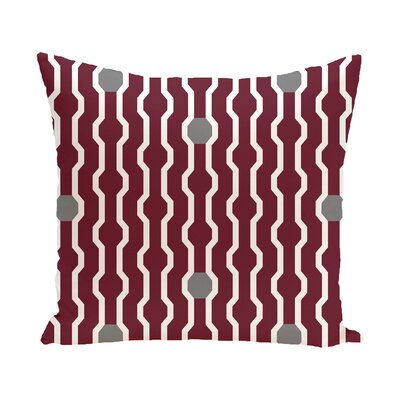 Uresti Decorative Holiday Geometric Print Square Throw Pillow Size: 20 H x 20 W, Color: Cranberry/Burgundy