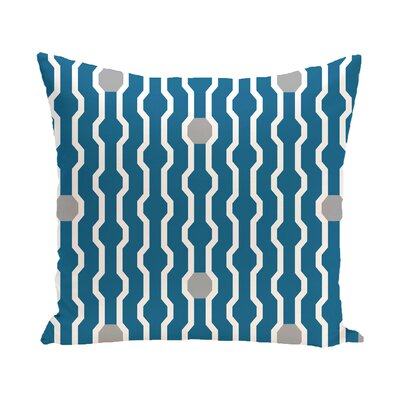Uresti Decorative Holiday Geometric Print Square Throw Pillow Size: 20 H x 20 W, Color: Turquoise