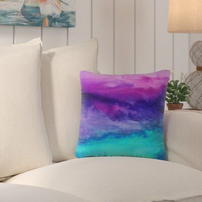 Indoor/Outdoor Euro Throw Pillow Size: 16 H x 16 W, Color: Leaving California