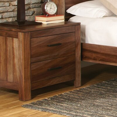 Dabrowski 2 Drawer Nightstand