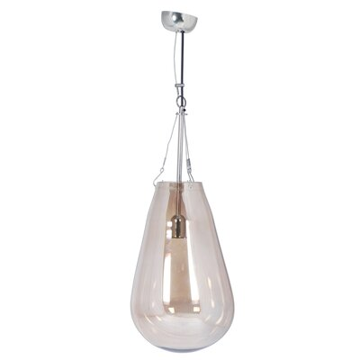 Canter Raindrop 1-Light Pendant Shade Color: Clear, Size: Large