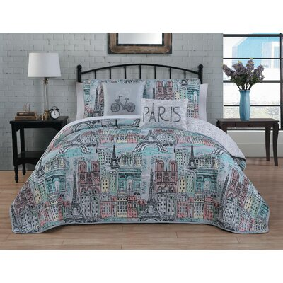 Mae 5 Piece Reversible Quilt Set Size: Queen