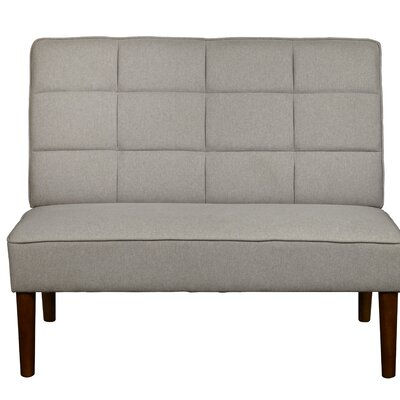 Andrade Modern Grid Upholstered Settee