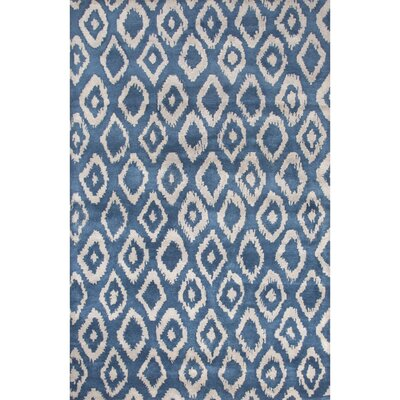 Devore Hand-Tufted Blue/Gray Area Rug Rug Size: 5 x 8