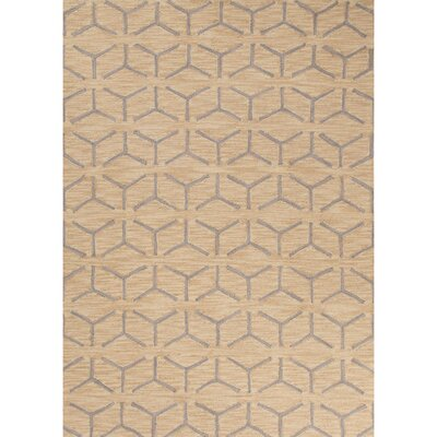 Devos Hand-Tufted Yellow/Beige Area Rug Rug Size: 2 x 3