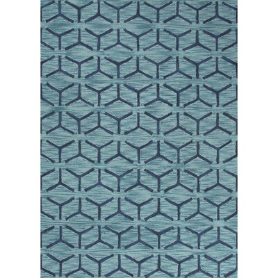 Devos Hand-Tufted Blue Area Rug Rug Size: Rectangle 76 x 96
