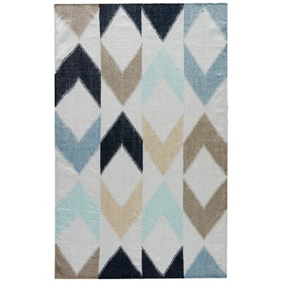 Dewar Vapor Blue/Total Eclipse Indoor/Outdoor Area Rug Rug Size: 5 x 8