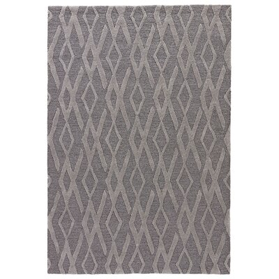 Devos Hand-Tufted Smoked Pearl/Elephant Skin Area Rug Rug Size: Rectangle 76 x 96