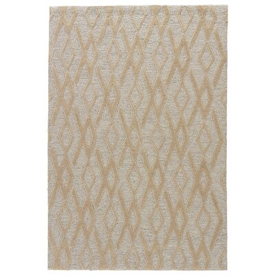 Devos Hand-Tufted Beige/Gray Area Rug Rug Size: Rectangle 5 x 76
