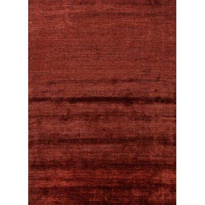 Morley Red/Orange Solid Rug Rug Size: 2 x 3