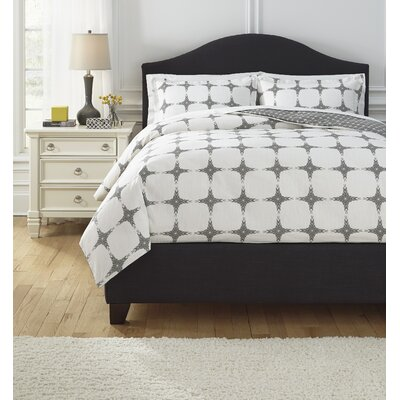 Sloss Duvet Cover Set Size: King, Color: Grey