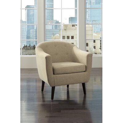 Slinkard Barrel Chair Upholstery: Khaki