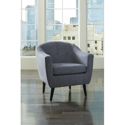 Slinkard Barrel Chair Upholstery: Denim