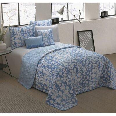 Warrenville 5 Piece Reversible Quilt Set Size: Queen, Color: Blue