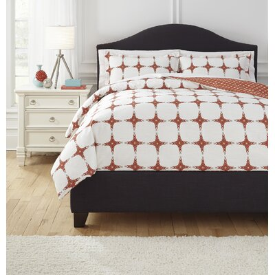 Sloss Duvet Cover Set Size: Queen, Color: Red