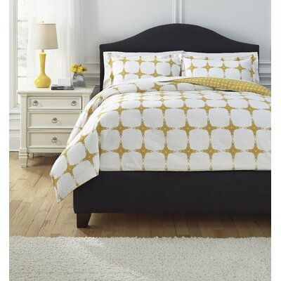 Sloss Duvet Cover Set Color: Yellow, Size: King