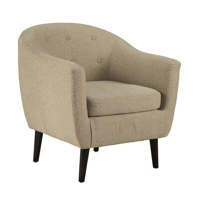 Slinkard Barrel Chair Upholstery: Khaki