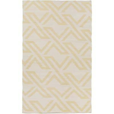 Breece Lime/Ivory Area Rug Rug Size: 5 x 76