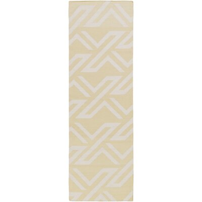 Breece Lime/Ivory Area Rug Rug Size: Runner 26 x 8