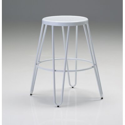 Dibble 24.5 Bar Stool (Set of 4) Finish: White