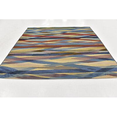 Dibenedetto Blue/Green Indoor/Outdoor Area Rug Rug Size: Square 6