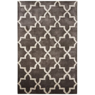 Dicarlo Hand-Tufted Dark Gray Area Rug Rug Size: 5 x 8