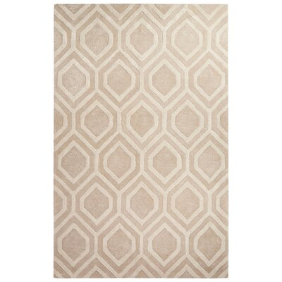 Dicarlo Hand-Tufted Taupe/Ivory Area Rug Rug Size: Rectangle 5 x 8