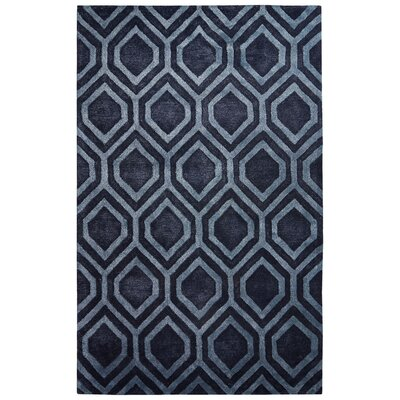 Dicarlo Hand-Tufted Gray/Blue Area Rug Rug Size: 2 x 3